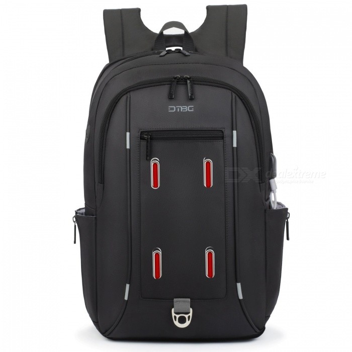 DTBG 17.3 Water Resistant Laptop Backpack Durable Travel Business Backpack with USB Charging Port - BlackBags and Pouches<br>Form  ColorBlackModelD8227WQuantity1 pieceShade Of ColorBlackMaterialNylonCompatible Size17.3 inchTypeBackpacksPacking List1 x Backpack<br>