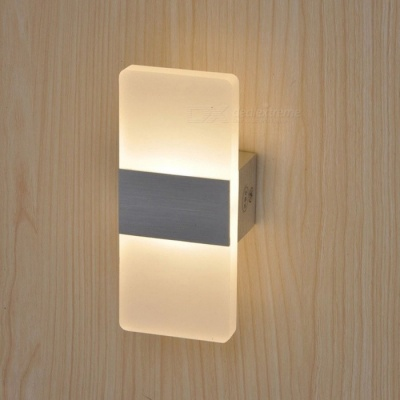 P-TOP 6W LED Acryl Wall Lamp Modern Style Bedroom Bedside Lamp Warm White Light