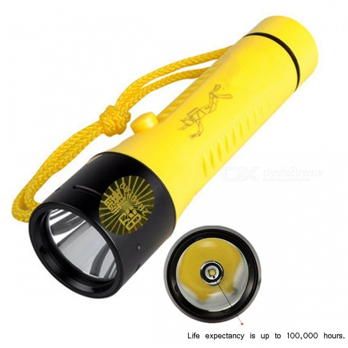 ZHAOYAO Strong Light USB Rechargeable Long Range 3-Mode Diving Flashlight for Hunting, Camping, HikingDiving Flashlights<br>Form  ColorYellowQuantity1 setMaterialHigh density hard plasticEmitter BrandCreeLED TypeXM-LEmitter BINT6,others,L2Color BINWhiteNumber of Emitters1Theoretical Lumens800 lumensActual Lumens800 lumensPower Supply3X18650 batteryWorking Voltage   3.7 VCurrent4.5 ARuntime10 hoursNumber of Modes3Mode ArrangementHi,Mid,LowMode MemoryNoSwitch TypeTwistySwitch LocationSideLens MaterialglassReflectorAluminum SmoothWorking Depth Underwater100 mStrap/ClipStrap includedPacking List1 x Diving torch 1 x Charger 1 x Hand rope<br>