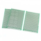 8 x 12cm FR-4 2-Sided Prototype Tinned Universal PCB Circuit Board for DIY - Green (3 PCS)