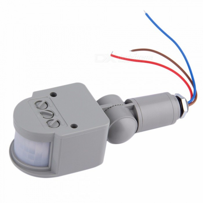 AC 220V Automatic Motion Sensor Switch for LED Light Light Switch Outdoor Infrared PIR Motion SensorSwitches &amp; Adapters<br>Form  ColorGreyQuantity1 setMaterialABS plasticPower Range-Max. Current-Working Temperature- ?Packing List1 x Outdoor IR motion Sensor Switch<br>