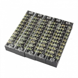TB1510 Dual Row 10-Position Screw Terminal Electric Barrier Strip Block (5 PCS)