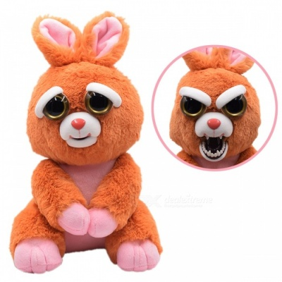 Super Cute Cartoon Toy Rabbit Variable-Face Plush Doll for Kids