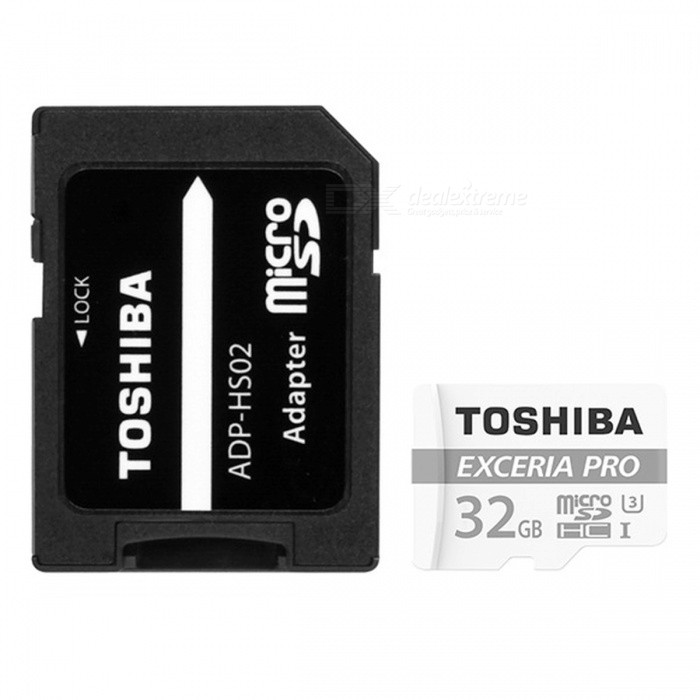 TOSHIBA THN-M401S0320C2 TF32G 32GB TF Card MicroSDHC Card R95M/S / W80M/S with AdapterMicroSD TF Cards<br>Capacity32GBBrandToshibaModelTHN-M401S0320C2Quantity1 setMaterialMetal + PlasticForm  ColorWhiteSpeed ClassUHS-I (U3)Max Read Speed95MB/SMax Write Speed80MB/SOverwrite Protection SwitchYesPacking List1 x TF card1 x SD adapter<br>