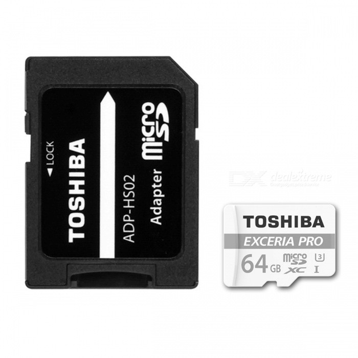 TOSHIBA THN-M401S0640C2 PRO TF64G 64GB TF Card MicroSDHC Card R95M/S / W80M/S with AdapterMicroSD TF Cards<br>Capacity64GBBrandToshibaModelTHN-M401S0640C2Quantity1 setMaterialMetal + PlasticForm  ColorWhiteSpeed ClassUHS-I (U3)Max Read Speed95MB/SMax Write Speed80MB/SOverwrite Protection SwitchYesPacking List1 x TF card1 x SD adapter<br>