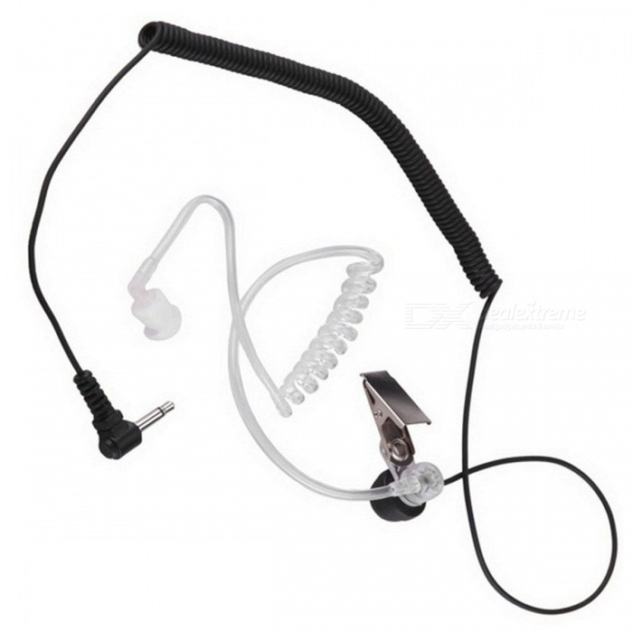 3.5mm Anti-Radiation Unilateral Air Duct Earphone Earbuds for MP3, MP4, Mobile Phone, Walkie TalkieWalkie Talkies Supplies<br>Form  ColorBlackModelHand microphone external single listen to the headsetQuantity1 setMaterialPVCCompatible Brand3.5mm universalCompatible Model3.5mm universalPacking List1 x Earphone<br>