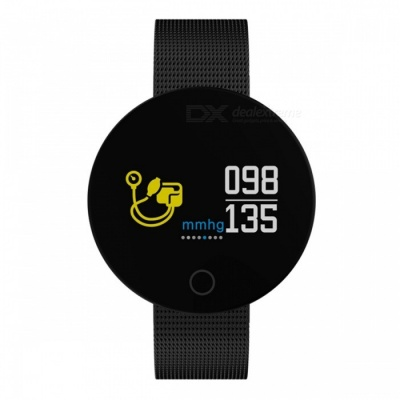 007 Pro Bluetooth V4.0 Android Smart Watch Bracelet Fitness Tracker with Heart Rate Monitor - Black
