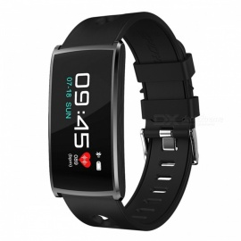 N68 Sports Waterproof Smart Bracelet Wristband with Blood Oxygen Blood Pressure Heart Rate Monitor - Black