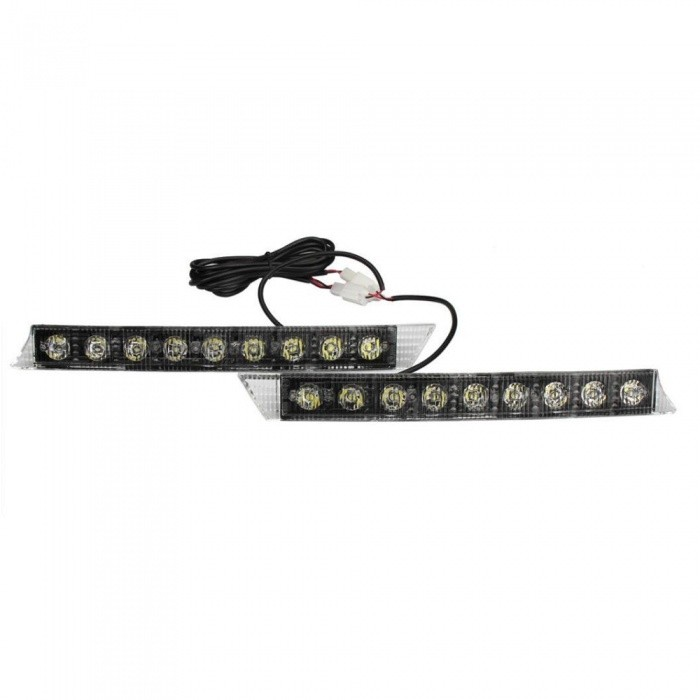 OJADE Universal High Power 9-LED DRL Daytime Running Light, Fog Lamp KitCar Interior Lights<br>Color BINNeutral WhiteModel9ledQuantity1 DX.PCM.Model.AttributeModel.UnitMaterialABSForm  ColorBlack + WhiteEmitter TypeLEDChip BrandOthersChip TypeN/ATotal Emitters9Power3WActual LumensN/A DX.PCM.Model.AttributeModel.UnitRate Voltage3VWaterproof FunctionNoConnector TypeOthersApplicationOthers,Day lightsPacking List1 x Day light<br>