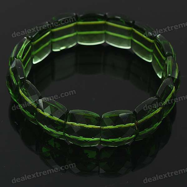 Stylish Elastic String Crystal Bracelet of The East China Sea - Transparent Green stylish elastic string crystal bracelet of the east china sea transparent white