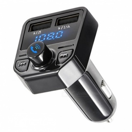 KELIMA X1 Car Handsfree Bluetooth MP3 Music Player FM Transmitter Dual USB Ports Car Charger - Black