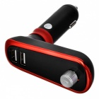 BT66B MP3 Player Bluetooth Hands Free Car FM Transmitter Kit Car Charger with Dual USB Ports - Black + Red