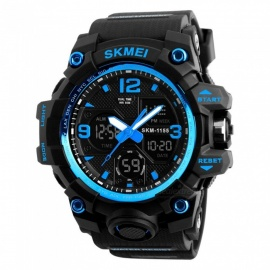 SKMEI 1155B 50M Waterproof Multifunction Sport Watch - Blue