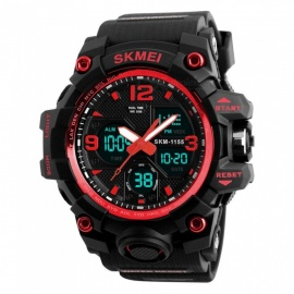 SKMEI 1155B 50M Waterproof Multifunction Sport Watch - Red