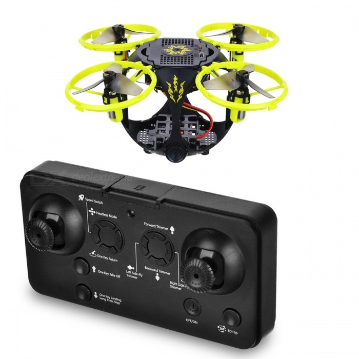 RQ77-25 Folding Flying Ball 4CH 2.4G Wireless RC Quadcopter with HD 1.3MP Camera - Black, GreenR/C Airplanes&amp;Quadcopters<br>Form  ColorBlack + Jade GreenModelRQ77-25MaterialElectronic components, plastic raw materialsQuantity1 pieceShade Of ColorBlackGyroscopeYesChannels Quanlity4 channelFunctionUp,Down,Left,Right,Forward,Backward,Stop,Hovering,Sideward flight,Others,3D flipRemote TypeRadio ControlRemote control frequency2.4GHzRemote Control Range50 mSuitable Age 8-11 years,12-15 years,Grown upsCameraYesCamera Pixel1.3MPLamp YesBattery TypeLi-polymer batteryBattery Capacity450 mAhCharging Time30 minutesWorking Time7 minutesRemote Controller Battery TypeAAARemote Controller Battery Number2 (not included)Remote Control TypeOthers,2.4GModelMode 2 (Left Throttle Hand)Packing List1 x Folding fly ball1 x Remote control1 x Mobile phone bracket1 x USB charging line (line length 13CM)2 x Aircraft blades1 x English instructions<br>