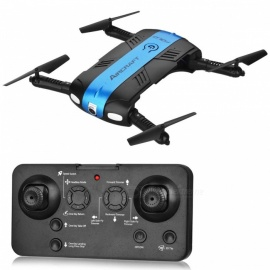 RQ77-24 Folding Four-Axis 4CH 2.4G Wireless RC Quadcopter with 0.3MP Camera (Fixed Height Return Version) - Blue
