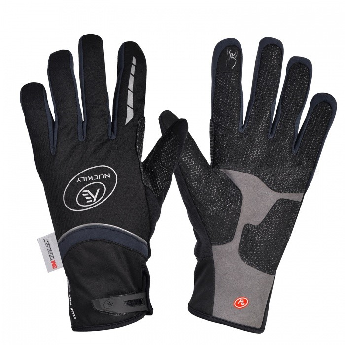 NUCKILY PD07 Unisex Winter Full Finger Cycling Touch Screen Gloves Warm Thickened Windproof Outdoor Sports Gloves - Grey (L)Gloves<br>Form  ColorGreySizeLModelPD07Quantity1 setMaterial50% polyester 30% Nylon 20% PUTypeFull-Finger GlovesSuitable forAdultsGenderUnisexPalm Girth11 cmGlove Length26 cmBest UseCycling,Mountain Cycling,Recreational Cycling,Road Cycling,Triathlon,Bike commuting &amp; touringPacking List1 x Pairs of gloves<br>