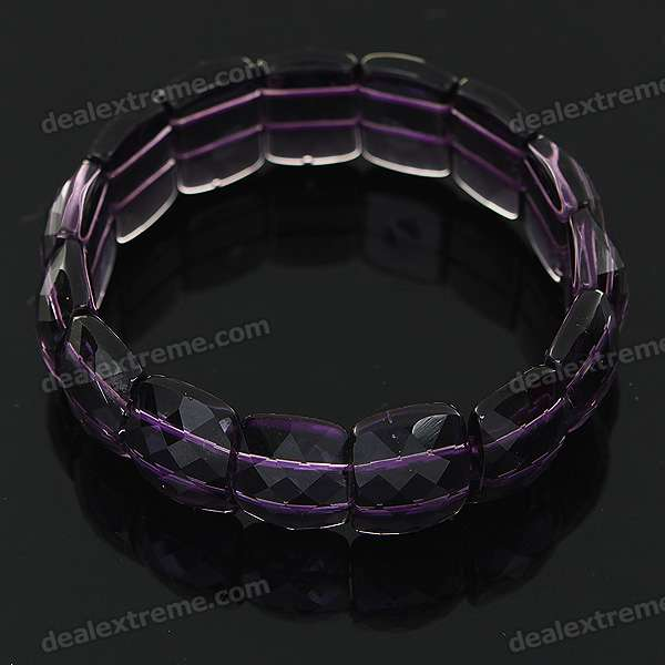Stylish Elastic String Crystal Bracelet of The East China Sea - Transparent Purple the jews of east central europe between the world wars paper