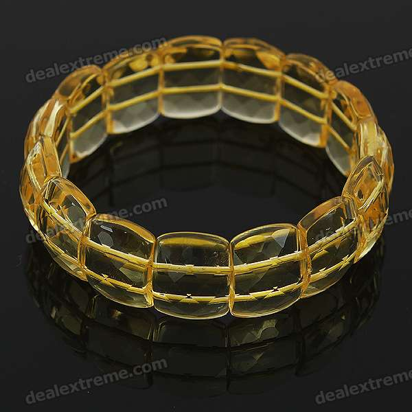 Stylish Elastic String Crystal Bracelet of The East China Sea - Transparent Yellow the jews of east central europe between the world wars paper