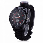 Buy EDC Tactical Outdoor Multifunction Watch Survival Rescue Paracord Rope Bracelet, Compass Tools Kit Camping - Black