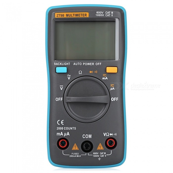 ZT98 Universal Automatic Electric Multimeter�� Voltmeter Ammeter AC DC Measurement Tool with LCD Digital Display
