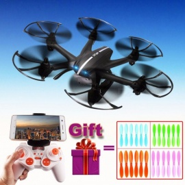2.4G 4CH 6-assige MJX X800 RC drone quadcopter helikopter met C4015 HD FPV WIFI real time camera VS X400 x5c x5sw x5sc zonder camera zwart