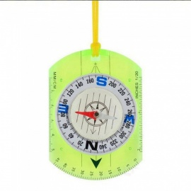 OJADE Outdoor Multifunctional Ruler / Compass with Strap - Green