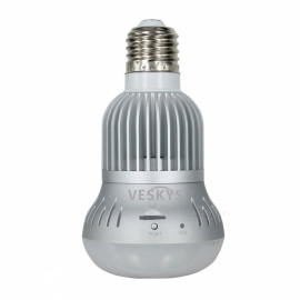 VESKYS 960P 360 Degree Fish Eye Lens 1.3MP Wireless Wi-Fi Full View IP Camera, Smart Bulb Light for Home Security