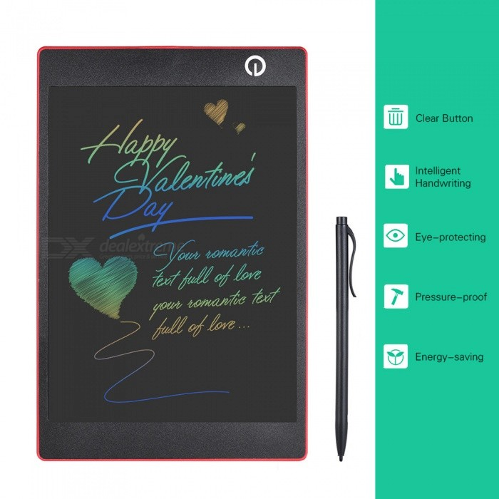 OJADE 9.7 Inches Color LCD Writing Pad Digital Drawing Tablet, Electronic Graphic Board with Stylus - RedOther Stationeries<br>Form  ColorRedMaterialABSQuantity1 setPacking List1 x Handwriting board1 x Stylus<br>