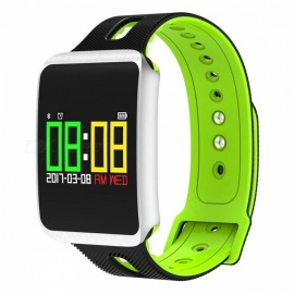 TF1 Smart Bluetooth Bracelet w/ Heart Rate Monitor, Blood Pressure Oxygen Monitor, Sleep Detection, Message Alert - Green