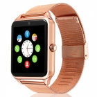 "Z60 1.54"" Smart Watch with Camera, Stand Sim Card, TF Slot, Facebook, Twitter, Alarm Clock for Android / IOS - Golden"