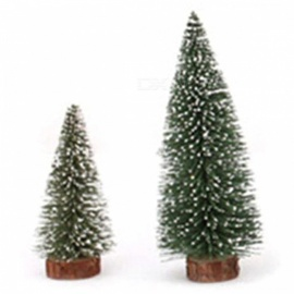 P-TOP 15cm 20cm Reusable Mini Small White Cedar Christmas Tree for Desktop Decoration (2 PCS)