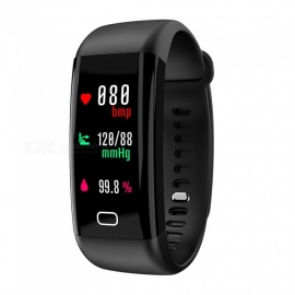 F07 Bluetooth Smart Bracelet with Heart Rate, Blood Pressure, Blood Oxygen, Sleep Monitoring, Message Reminding - Black