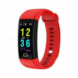F07 Bluetooth Smart Bracelet with Heart Rate, Blood Pressure, Blood Oxygen, Sleep Monitoring, Message Reminding - Red