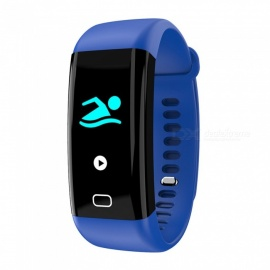 F07 Bluetooth Smart Bracelet with Heart Rate, Blood Pressure, Blood Oxygen, Sleep Monitoring, Message Reminding - Blue