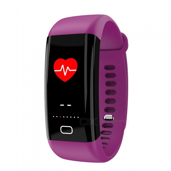 F07 Bluetooth Smart Bracelet with Heart Rate, Blood Pressure, Blood Oxygen, Sleep Monitoring, Message Reminding - PurpleSmart Bracelets<br>Form  ColorPurpleModelF07Quantity1 piecesMaterialTPUShade Of ColorPurpleWater-proofIP68Bluetooth VersionBluetooth V4.0Touch Screen TypeOthers,OLEDOperating SystemAndroid 4.4,iOSCompatible OSAndroid IOSBattery Capacity110 mAhBattery TypeLi-polymer batteryStandby Time15 dayPacking List1 x Smart Bracelet1 x User Manual1 x Box<br>