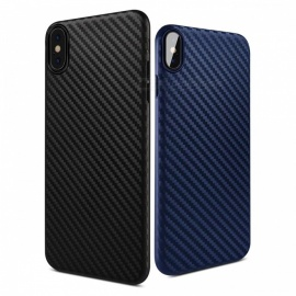 Custodia posteriore sottile in PP design elegante in fibra di carbonio per IPHONE X / per IPHONE 7/7 PLUS custodie rigide per iPhone x / nero