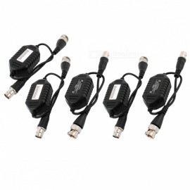 Coaxial Video Ground Loop Isolator Balun BNC Male to Female Adapter for CCTV Camera (5 PCS)