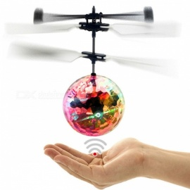 RC Flying Ball Colorful Flyings RC Toy Drone Helicopter Ball Built-in Shinning LED Lighting for Kids Teenagers       Colorful