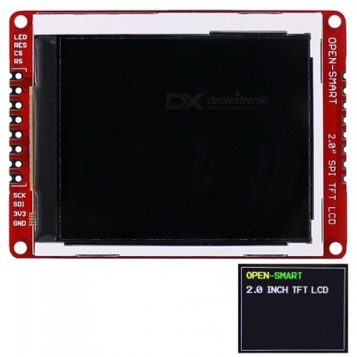 OPEN-SMART 3.3V 2.0 Inch 176 * 220 Serial SPI TFT LCD Shield Breakout Module for Arduino Nano Pro Mini UNO R3 Mega2560