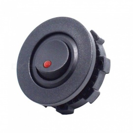 Eastor 12-24V Mini Car Truck Round Rocker Toggle Switch w/ SPST On-Off Control - Red Light