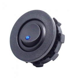 Eastor 12-24V Mini Car Truck Round Rocker Toggle Switch w/ SPST On-Off Control - Blue Light