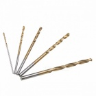 Titanium Coated HSS High Speed Steel Drill Bits Set Tool, High Quality Power Tools 1/1.5/2/2.5/3mm - Gold (50PCS)