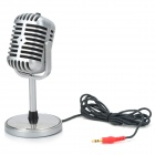 Plastic Classic Style 3.5mm Standing Microphone (2.2M-Cable)