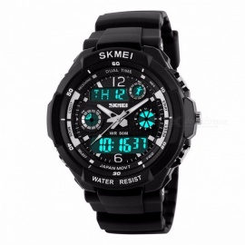 SKMEI 1060 50m Waterproof Children's Sports Wristwatch, Fashion LED Quartz Digital Watch for Boys Girls Kids Silver L
