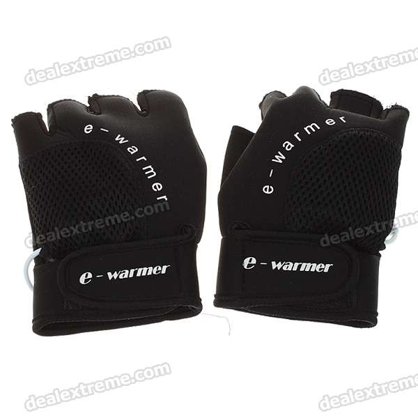 USB Heated Warm Gloves - Black (Pair)