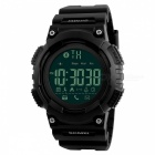 SKMEI 1256 Men's Waterproof Sports Smart Watch Digital Wristwatch with Remote Camera, Call Reminder, Pedometer - Black