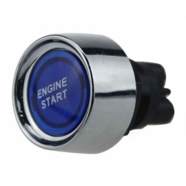 IZTOSS B2633 Mini 12V 50A Car Modification Button Switch with One-Key Start Function - Blue