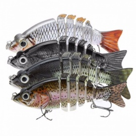 LIXADA 4 Inches Lifelike Artificial Fishing Lure Crankbait Hard Fishing Bait Swimbait Pesca Lures Fishing Tackle for Bass Pike Multi