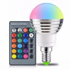 E14 RGB LED Bulb 16-Color Magic LED Night Light Lamp Dimmable Holiday Stage Light 85-265V with 24-Key Remote Control